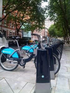 Bike docking station outside the office